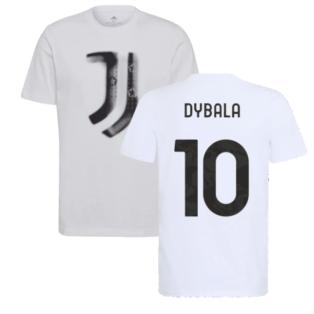 2021-2022 Juventus Training T-Shirt (White) (DYBALA 10)