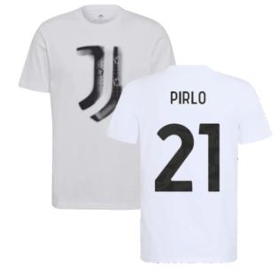 2021-2022 Juventus Training T-Shirt (White) (PIRLO 21)