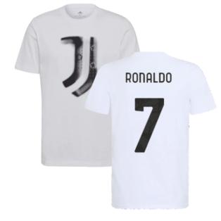 2021-2022 Juventus Training T-Shirt (White) (RONALDO 7)