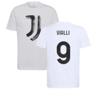 2021-2022 Juventus Training T-Shirt (White) (VIALLI 9)