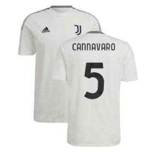 2021-2022 Juventus Training Tee (White) (CANNAVARO 5)