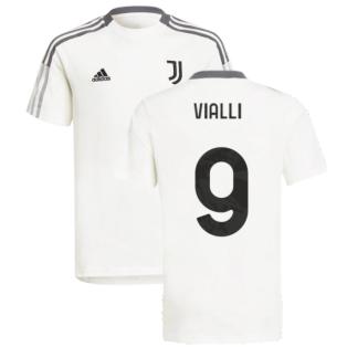 2021-2022 Juventus Training Tee (White) - Kids (VIALLI 9)