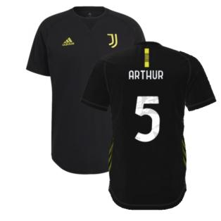 2021-2022 Juventus Travel Tee (Black) (ARTHUR 5)