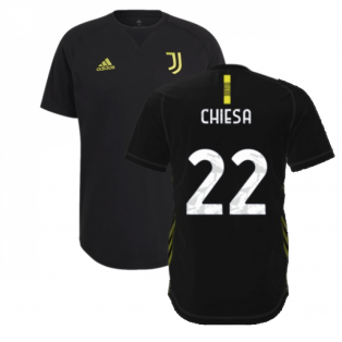 2021-2022 Juventus Travel Tee (Black) (CHIESA 22)