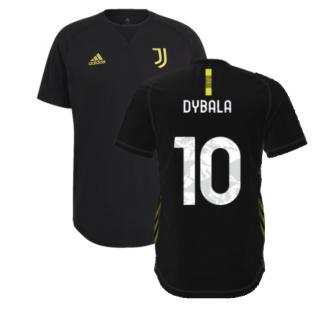 2021-2022 Juventus Travel Tee (Black) (DYBALA 10)