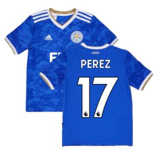 2021-2022 Leicester City Home Shirt (Kids) (PEREZ 17)