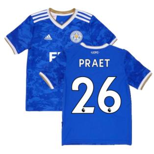 2021-2022 Leicester City Home Shirt (Kids) (PRAET 26)