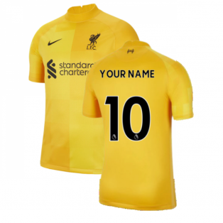 2021-2022 Liverpool Away Goalkeeper Shirt (Yellow) (Your Name)