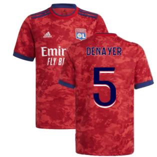 2021-2022 Lyon Away Shirt (Kids) (DENAYER 5)
