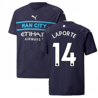 2021-2022 Man City 3rd Shirt (Kids) (LAPORTE 14)