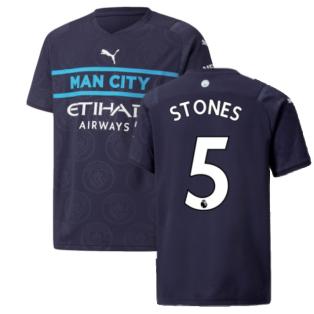 2021-2022 Man City 3rd Shirt (Kids) (STONES 5)