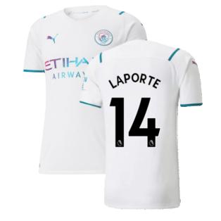 2021-2022 Man City Authentic Away Shirt (LAPORTE 14)