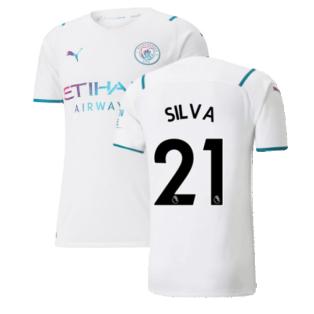 2021-2022 Man City Authentic Away Shirt (SILVA 21)