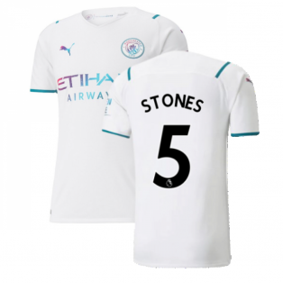 2021-2022 Man City Authentic Away Shirt (STONES 5)