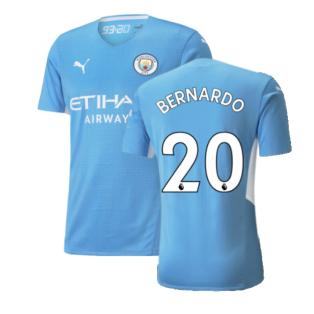 2021-2022 Man City Authentic Home Shirt (BERNARDO 20)