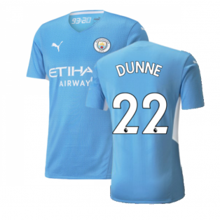 2021-2022 Man City Authentic Home Shirt (DUNNE 22)