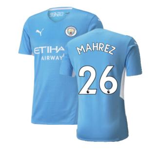 2021-2022 Man City Authentic Home Shirt (MAHREZ 26)