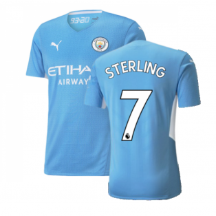 2021-2022 Man City Authentic Home Shirt (STERLING 7)