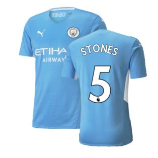 2021-2022 Man City Authentic Home Shirt (STONES 5)