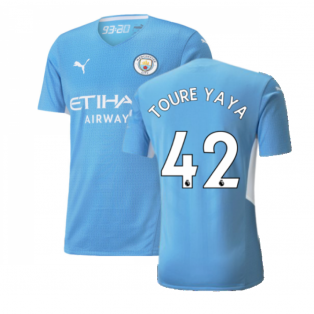 2021-2022 Man City Authentic Home Shirt (TOURE YAYA 42)