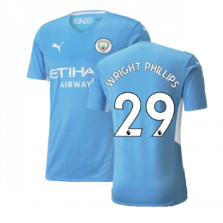 2021-2022 Man City Authentic Home Shirt (WRIGHT PHILLIPS 29)