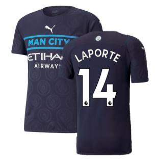 2021-2022 Man City Authentic Third Shirt (LAPORTE 14)