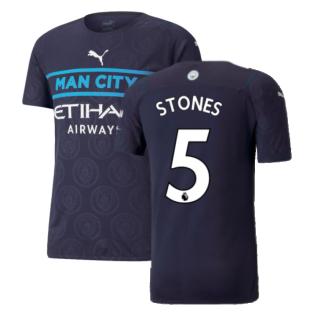 2021-2022 Man City Authentic Third Shirt (STONES 5)
