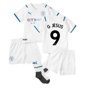 2021-2022 Man City Away Mini Kit (G JESUS 9)