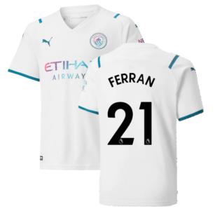 2021-2022 Man City Away Shirt (Kids) (FERRAN 21)