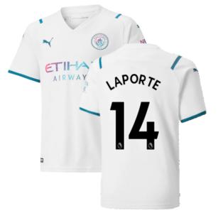 2021-2022 Man City Away Shirt (Kids) (LAPORTE 14)
