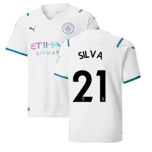 2021-2022 Man City Away Shirt (Kids) (SILVA 21)