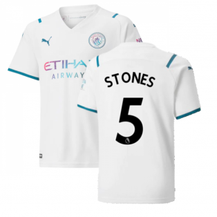2021-2022 Man City Away Shirt (Kids) (STONES 5)