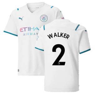 2021-2022 Man City Away Shirt (Kids) (WALKER 2)