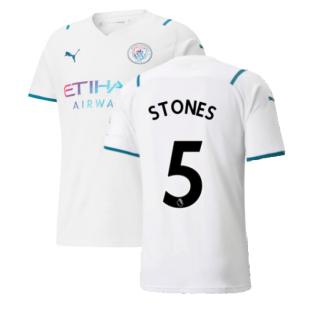 2021-2022 Man City Away Shirt (STONES 5)