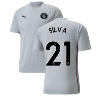 2021-2022 Man City Casuals Tee (Quarry) - Kids (SILVA 21)