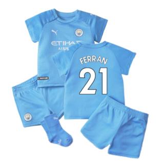 2021-2022 Man City Home Baby Kit (FERRAN 21)