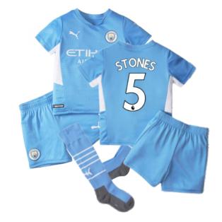 2021-2022 Man City Home Mini Kit (STONES 5)