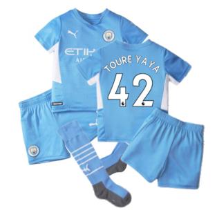 2021-2022 Man City Home Mini Kit (TOURE YAYA 42)