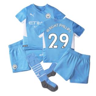 2021-2022 Man City Home Mini Kit (WRIGHT PHILLIPS 29)