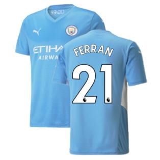 2021-2022 Man City Home Shirt (FERRAN 21)