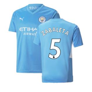 2021-2022 Man City Home Shirt (Kids) (ZABALETA 5)