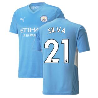 2021-2022 Man City Home Shirt (SILVA 21)