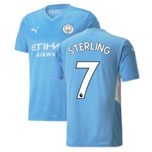 2021-2022 Man City Home Shirt (STERLING 7)
