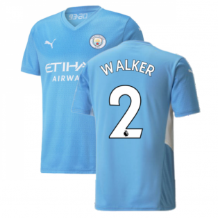 2021-2022 Man City Home Shirt (WALKER 2)