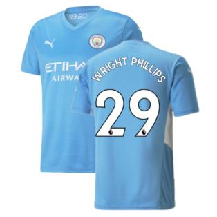 2021-2022 Man City Home Shirt (WRIGHT PHILLIPS 29)