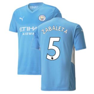 2021-2022 Man City Home Shirt (ZABALETA 5)