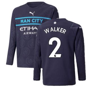 2021-2022 Man City Long Sleeve 3rd Shirt (Kids) (WALKER 2)