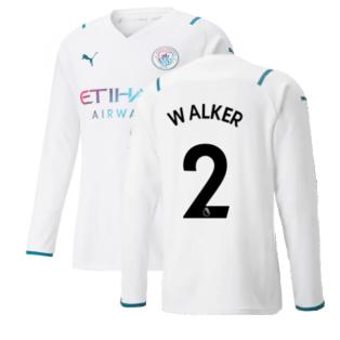 2021-2022 Man City Long Sleeve Away Shirt (WALKER 2)