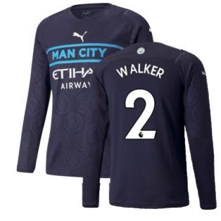 2021-2022 Man City Long Sleeve Third Shirt (WALKER 2)