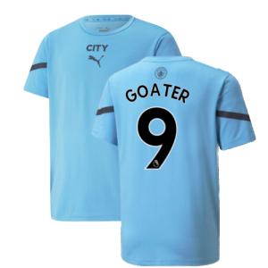 2021-2022 Man City Pre Match Jersey (Light Blue) (GOATER 9)
